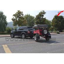 mini camper trailer with independent suspension with kitchen system