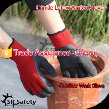 SRSAFETY 7 калибра Акриловые подгузники Трикотажные перчатки из латекса / дешевые зимние трикотажные перчатки