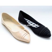 """2015 mulheres novas do estilo sapatas lisas """"sexy"""" elegantes com enrugamento em sapatas de bailado superiores para a senhora"""