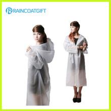 Fashion Women′s EVA Long Raincoat