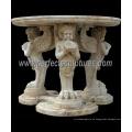 Tallada mesa de mármol de piedra para la decoración del hogar antiguo (qtb046)