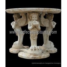 Carved Stone Marble Table for Antique Home Decoration (QTB046)