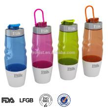 BPA livre flip top isolados esportes de plástico garrafa de água potável 600 ML