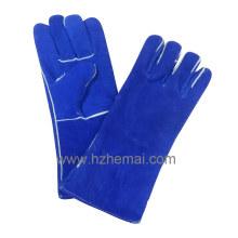 Blue Cow Split Gants de soudure en cuir Gant de travail de sécurité