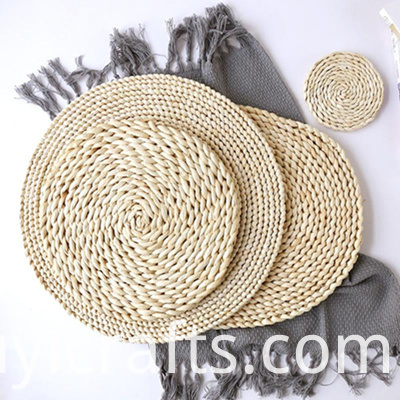 dark brown rattan placemats