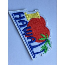 lron on embroidery coconut trees patches