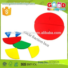 Preschool Wooden Teaching Aids Circle Fraction Box Educational Learning Toys