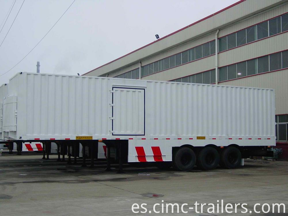 Box Two Axle Box Curtain Side Semi Trailer