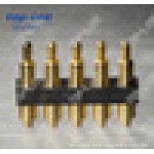 2,54 milímetros Pitch 5 pinos mola carregado Pogo Pin Connector (impermeável)