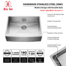 304 Stainless Steel 30*22 inch US America standard handmade single bowl apron front farmhouse kitchen sink with grid optional