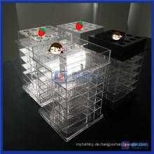 China-Großverkauf-neuer Entwurf, der Acryl-Lippenstift-Standplatz spinnt