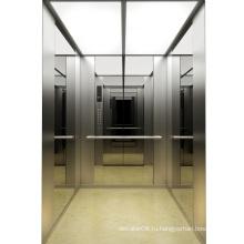 Зеркало травленое из нержавеющей стали Лифт