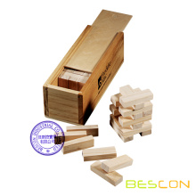 Jenga Spiel Set in Holzkiste Verpackung