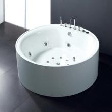 Bañera acrílica independiente redonda de hoja de acrílico de una pieza