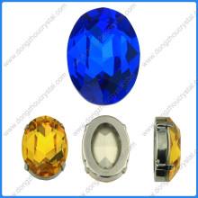 Bijoux fantaisie ovales perles pierres