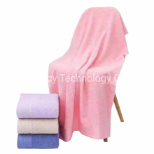 Microfiber Large Size Pink Cotton Ultra Soft Bath Face Hair Towel