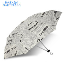 Most Wanted Products Wholesale Gift Items Top Quality Lady 5 Fold UK Newspaper Cheap Custom Print Umbrella Promotional