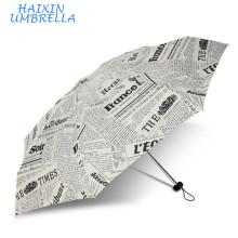 Самые требуемые Товары оптом подарки, высокое качество Леди 5 раз газета Великобритании дешевый изготовленный на заказ печати зонтик Выдвиженческого