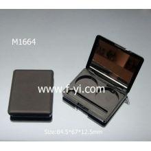 Negro con el espejo Empaquetado cosmético de la muestra Empaquetado de la gama de colores del sombreador de ojos