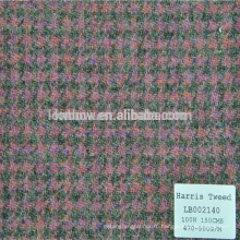 Сопротивление Добби шерсть хлопок текстильной ткани для пальто оптом Харрис твид