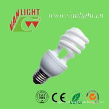 Tri-Color T3 série demi spirale lampe économiseuse d'énergie