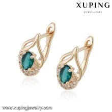 92029 Fashion élégante boucle d'oreille de bijoux en zircon cubique Huggie en couleur or rose