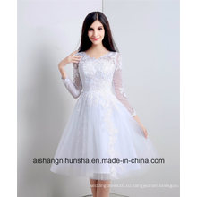 V-Образным Вырезом Невесты Платья Женщины Пром Платье Невесты Платья