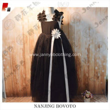 Noble princess black dress elegant summer dress