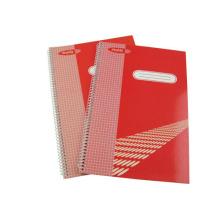 Tamanho 295 * 200mm Cobertura impressa Espiral Notebook Hardcover Note Pad School Material de escritório