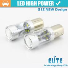 30w G12 1157 / BAY15D conduziu a luz de bulbo da luz do sinal de volta auto