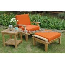 Juego de muebles de jardín / exterior de madera maciza - Sunlounger
