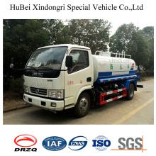 Camión cisterna del agua de la succión del uno mismo de 4ton 4cbm Dongfeng Euro 4
