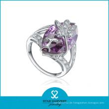Mode Silber CZ Persönlichkeit Ring (SH-R0351)
