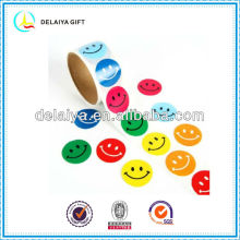 lovely smile face label roll sricker for children