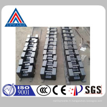 China Upward Brand Customized Casting Iron Calibration Testing Poids Contrepoids Fabricant