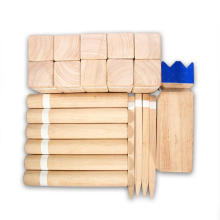 A madeira maciça natural caçoa brinquedos Xadrez de Viking