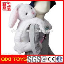 bolso de la escuela de la felpa de los niños de la felpa del conejo felpa mochila