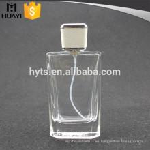 Frasco de perfume de 100 ml con tapa de cuero blanco