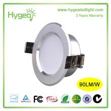 Vente en gros bonne qualité encastré 8w AC 200-240V conduit downlight 8w cob led downlight