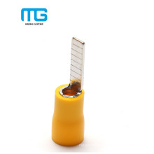 Yellow Copper PVC Insulated Blade Terminals Lug Of Wire Size 4-6mm