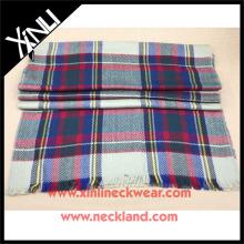 High Quality Plaid Fashion 100% Wool Scarf Winter