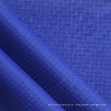Impermeable de doble hilo Ripstop diamante tela de nylon con PU