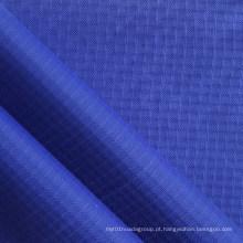 Tela impermeável do Nylon do diamante de Ripstop do Double-Yarn com PU