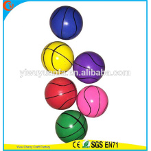 Novelty Design Promotion High Rubber Basketball Type Bounce Ball Toy for Glow Vending Machine