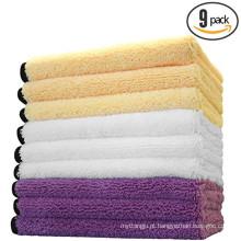 logotipo toalha de microfibra para o cabelo / cozinha / mão / rosto / banho / praia / carro limpo aliexpress tecido de microfibra