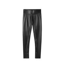 2021 Ladies' Sexy Wear High Waist Waterproof Fashion Black Pu Leather Pants For Women Bottom