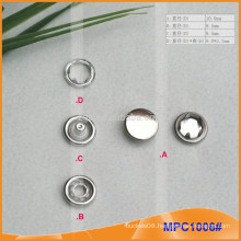 Prong Snap Button with Nickle Free Metal Cap MPC1006