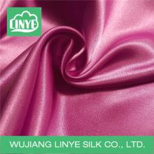 Блестящая 100% полиэфирная сатиновая ткань / свадебная декоративная ткань