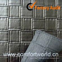 PVC en relieve de cuero para el sofá del bolso de