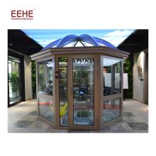 Sala de vidro isolada moderada economia de energia da casa do Sunroom do Sunroom